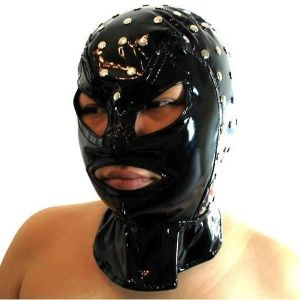 Vinyl mask with rivets