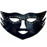 Black cat mask with sequins