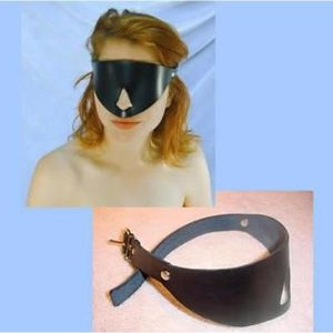 Leather eye mask. Артикул: IXI13594