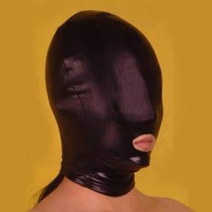 Black mask made of vinyl