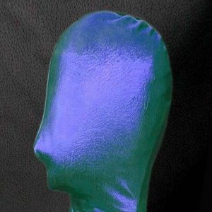 SALE! Green/blue vinyl mask without cutouts