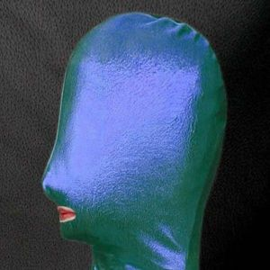 SALE! Green/blue vinyl mask