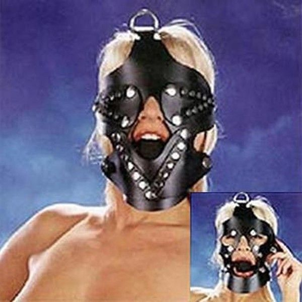 Черный намордник с кляпом 3,5 см