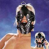 BDSM (БДСМ) - Черный намордник с кляпом 3,5 см