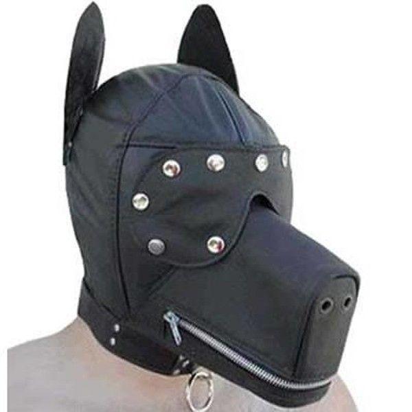 BDSM (БДСМ) - Черный намордник в форме собаки