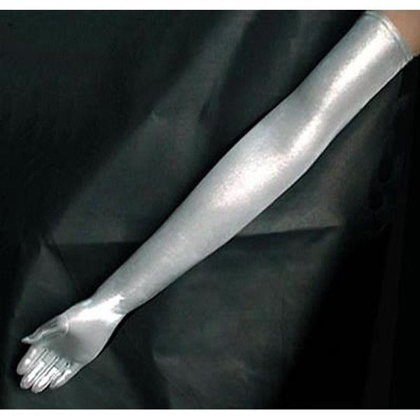 Silver long gloves