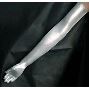 Silver long gloves. Артикул: IXI13641