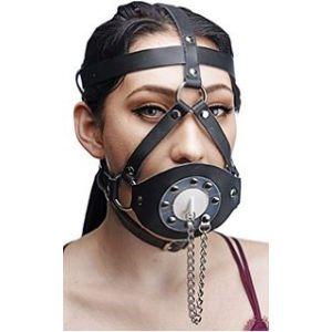 Black mouth gag with studs. Артикул: IXI13673