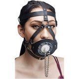 Черный кляп для рта с заклепками по оптовой цене