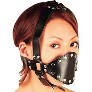 Black soft rubber muzzle
