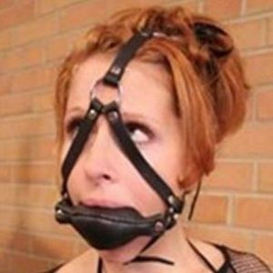 Black ball gag for the mouth