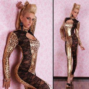 Сексуальный костюм леопарда - Одежда (латекс, винил)