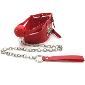 Red ball gag with chain