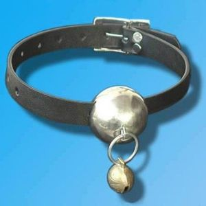 Leather gag with metal ball