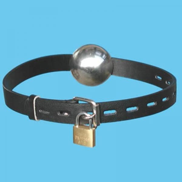 BDSM (БДСМ) - <? print Кожаный кляп с металическим шариком; ?>