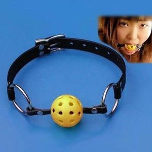 Yellow gag for mouth