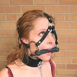 Black leather muzzle. Артикул: IXI13827