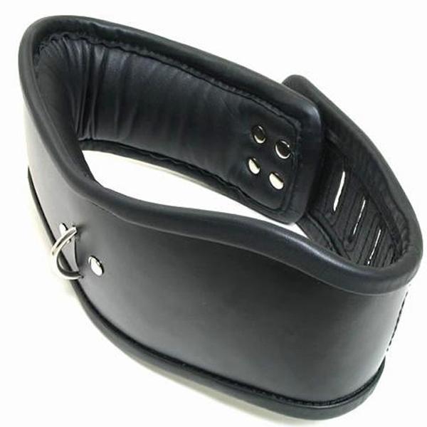 BDSM (БДСМ) - <? print Уникальный кожаный мягкий ошейник; ?>