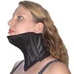 Black collar-corset