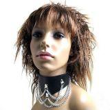 BDSM (БДСМ) - Черный ошейник с металлическими цепями