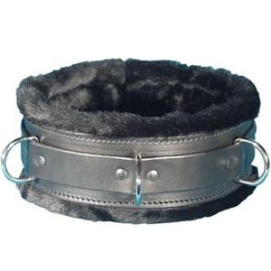 Black collar with fur lining