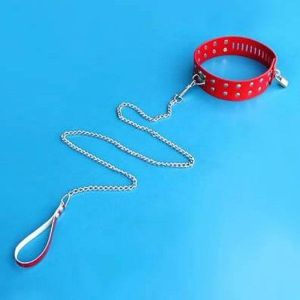 SALE! Red leather collar