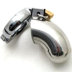 Steel chastity belt closed