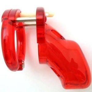 Красное мужское усройство целомудрия CB-3000