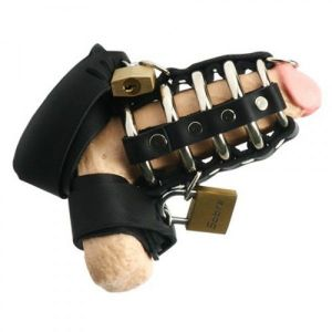 Leather chastity device
