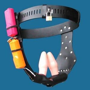 Black female chastity belt