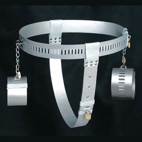 BDSM (БДСМ) - РАСПРОДАЖА! Серебряный женский пояс верности с наручниками