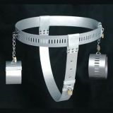 SALE! Silver chastity belt with handcuffs