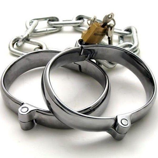 BDSM (БДСМ) - Стальные наножники для мужчин и женщин с цепями