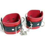 Black and red cuffs