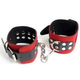 Black and red cuffs for men and women