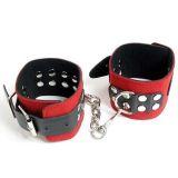 Черно-красные наручники для мужчин и женщин по оптовой цене