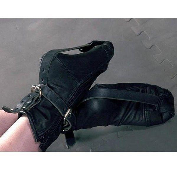 Кожаные наножники-носочки