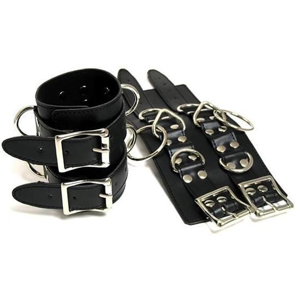 BDSM (БДСМ) - <? print Черные кожаные широкие наручники; ?>
