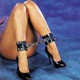 БДСМ - Черные кожаные наножники - b