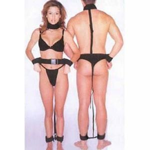 Black leather bondage for men and women. Артикул: IXI14148