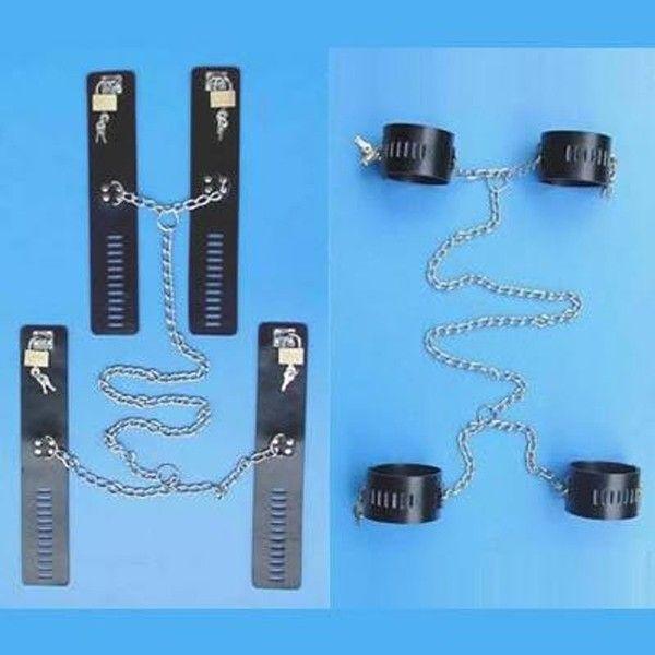 BDSM (БДСМ) - Черный кожаный бондаж из натуральной кожи черный