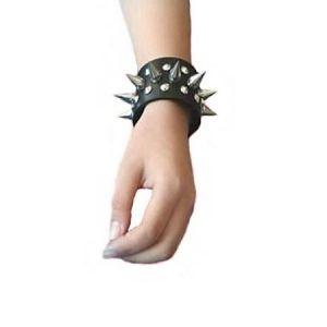 Кожаные шипованные наручники, пара 2 шт