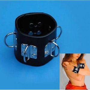Universal leather handcuffs. Артикул: IXI14213