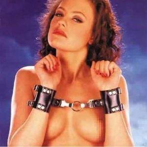 Black leather handcuffs - d. Артикул: IXI14226