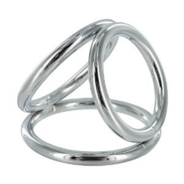 BDSM (БДСМ) - Тройное хромированое кольцо