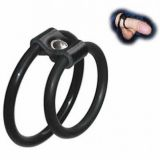 Black snap-on penis ring