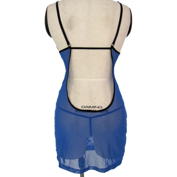 Blue fishnet negligee. Артикул: IXI14467
