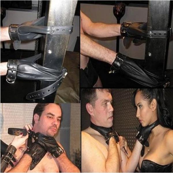 Black bondage with locks. Артикул: IXI14506