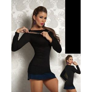 A fitted black top. Артикул: IXI14530