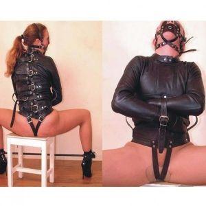 Black bondage jacket. Артикул: IXI14540